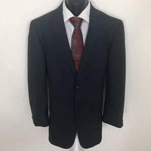 Kenneth Cole Gray Subtle Pin Striped Blazer 42R